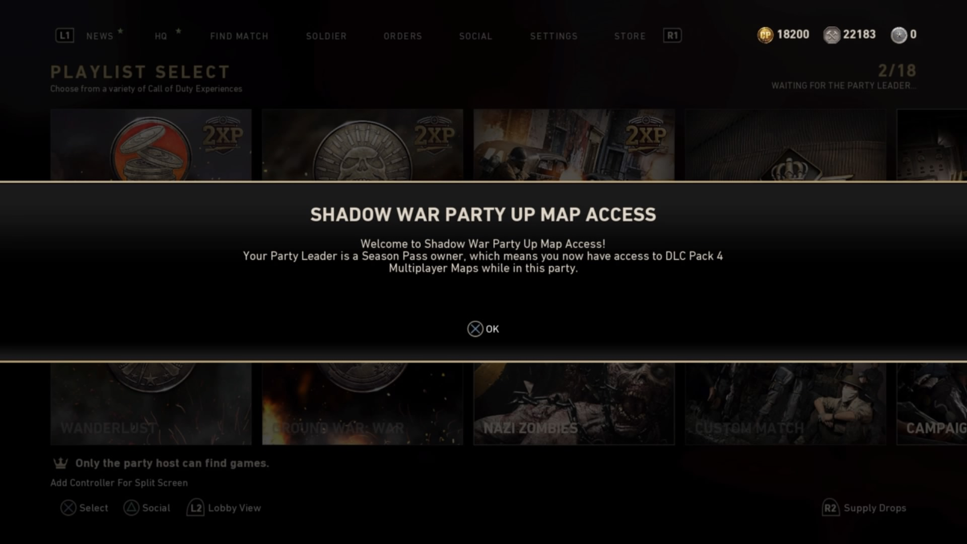 Party Up Map Access Enter