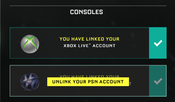 unlink account
